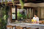 06-Villa Maya Retreat Kitchen and bar with staff to serve your every whim